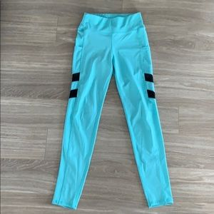 Pop Fit yoga pants, teal